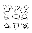 set of comic style speech bubbles vector image vector image