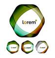 set of geometric shape convergence logo design vector image