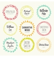 Set of hand drawn logo templates vector image vector image
