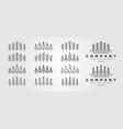 set pines thin line icon logo symbol design vector image vector image