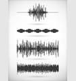 set signal samples vector image