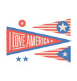 set symbols usa vintage retro graphic flag vector image vector image