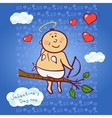 Smiling cupid vector image
