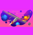 space design a colorful composition vector image vector image