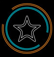 starfish icon sea star vector image