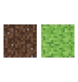 Texture for platformers pixel art - mud and vector image vector image