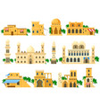 traditional ancient arabic architecture mud brick vector image vector image