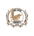 twitter birds with vintage emblems - design vector image