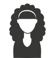 woman female silhouette icon vector image vector image