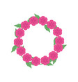 wreath of flowers icon vector image vector image