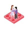 Young Love Couple Dance Isometric Style Design vector image