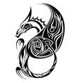 dragon tatoo vector image