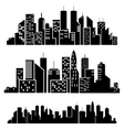 cities silhouette vector image