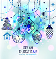 New Years greeting card merry Christmas Bright New vector image