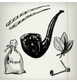Set of sketches Tobacco vector image