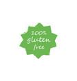 100 gluten free food label vector image vector image