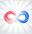3d infinity symbol colorful infinity icon white vector image