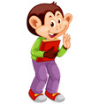 a cute monkey character vector image vector image