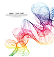 abstract color wave background rainbow wave vector image vector image