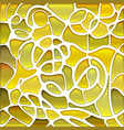 abstract stained-glass mosaic background vector image vector image