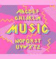 alphabet 90 s retro font vector image vector image