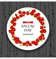Anzac day dark background vector image