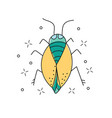 beetle hand drawn doodle icon insect beetle vector image