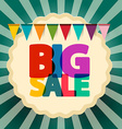 Big Sale Retro Banner with Flags vector image