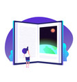 book knowledge concept books door to knowledge vector image vector image