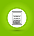 calculator icon in creative design with elements vector image vector image
