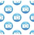 Camera sign pattern vector image vector image