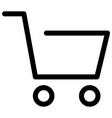 cart ecommerce online shop shopping icon vector image vector image