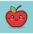 cartoon apple fruit design vector image