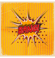 Cartoon Bang on a yellow background vector image vector image