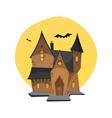 Cartoon Haunted House vector image vector image