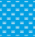cassette tape pattern seamless blue vector image vector image