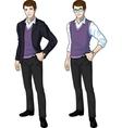 Caucasian office clerk in casual formal wear vector image