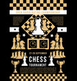 chess game open tournament vector image vector image