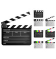clapper board set vector image vector image