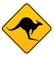 classic australian kangaroo roadsigns vector image vector image