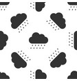 cloud with rain icon seamless pattern vector image