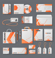 corporate identity mockup office stationery vector image