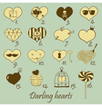 Darling hearts vector image