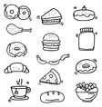 Doodle of food and drink object vector image vector image