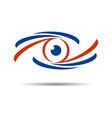 eye graphic icon logo vector image vector image