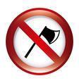 forbidden ax design vector image