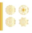 Geometric gold mandala set vector image vector image