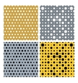 Gold and silver dots seamless pattern vector image vector image