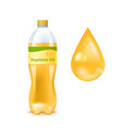 golden vegetable oil vector image vector image