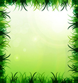 Gras frame vector image